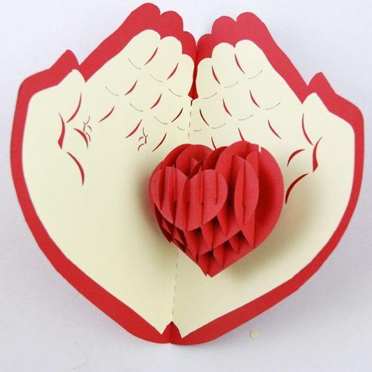 Для ажурных, открытка сердечко на ладони