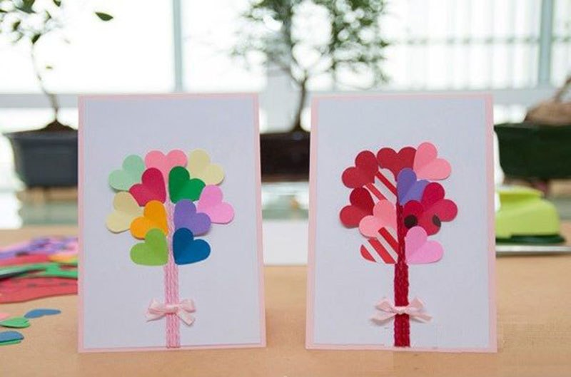Открытка своими руками ко дню святого валентина для детей, каштанка нарисовать