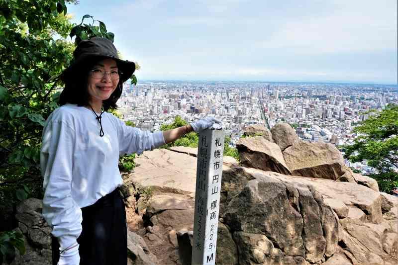 標高225mの円山山頂に登頂!