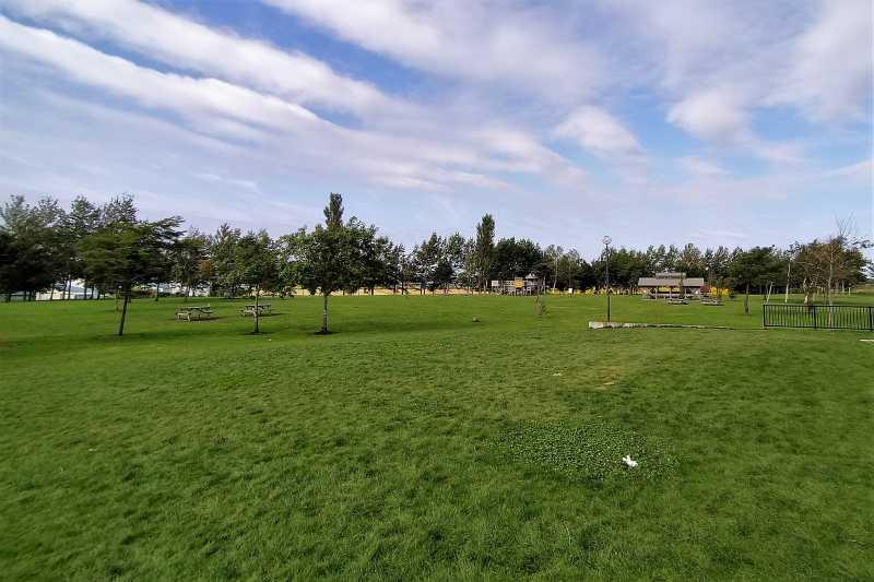 「三重緑地公園キャンプ場」の全景
