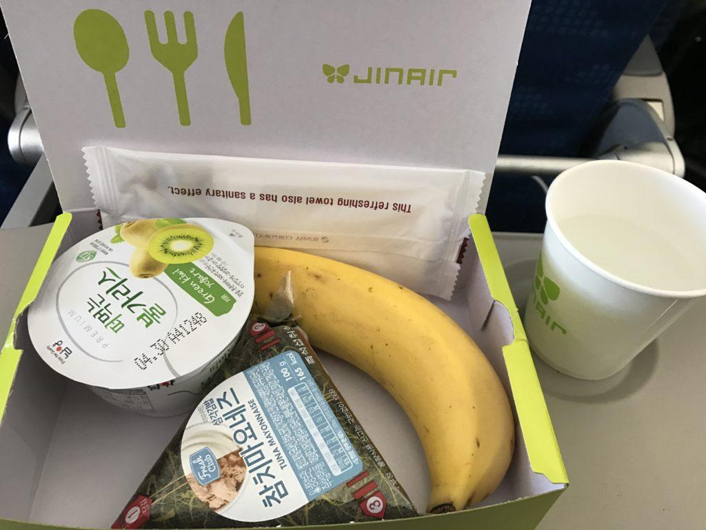 海外旅行 韓国 ジンエアー 機内食