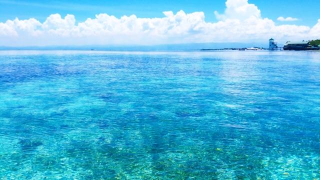 アジアリゾート比較 セブ島のきれいな海