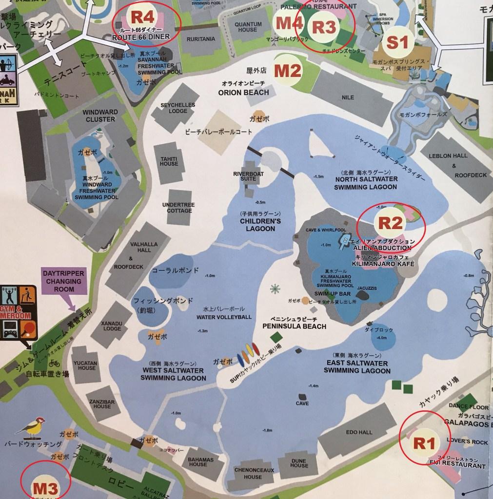 セブ島_プランテーションベイリゾート&スパ_地図