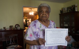 Ariela Philip Scraig, 84, a life long resident of Africatown in Mobile, Alabama. She helped Africatown get on the National Register of Historic Places. Photo, 2013: TheContributor.com
