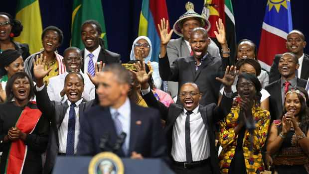 U.S. President Barack Obama participates in a town hall-style question-and-answer session with participants from the Young African Leaders Initiative Mandela Washington Fellowship Presidential Summi, Aug. 3, 2015 in Washington, DC. Photo: Chip Somodevilla/Getty