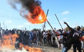 riots in Zimbabwe