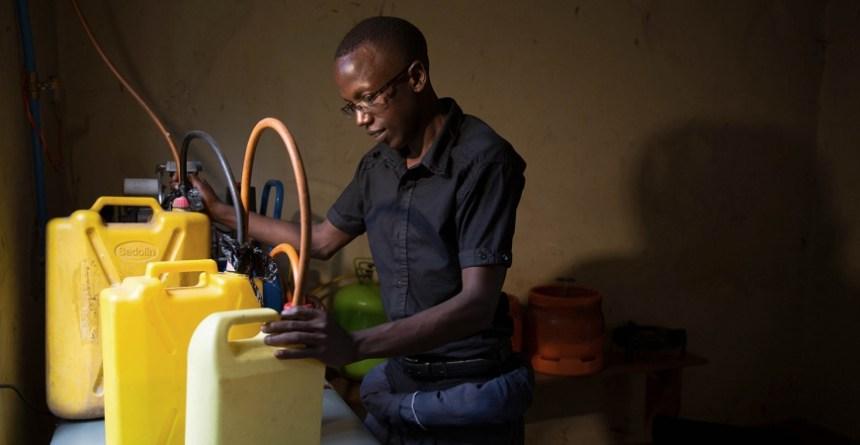Arthur Woniala is the mechanical engineer behind Khainza Energy Gas. Photo - QEPFE