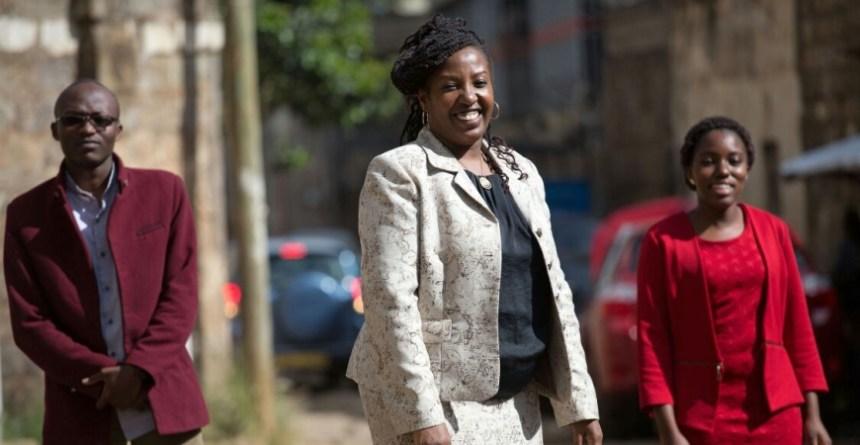 Esther Gacicio is the woman behind Kenya's eLearning Solutions. Photo - dhahabuKenya