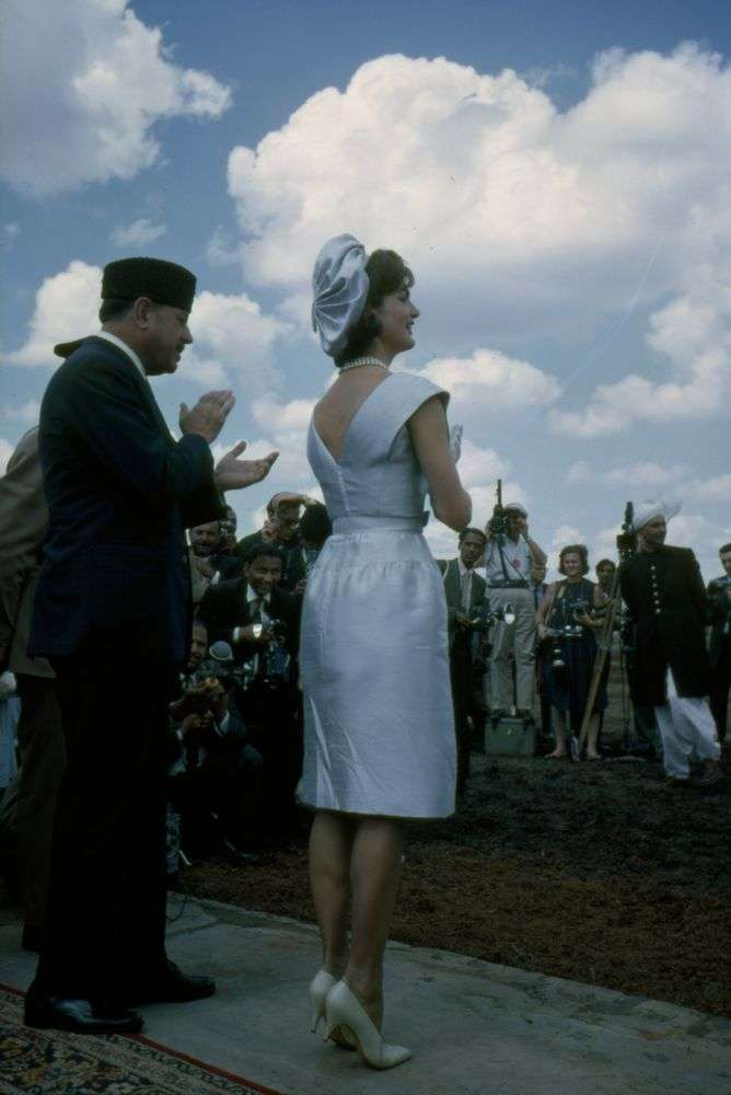 Jackie Kennedy at the Pakistani National Horse and Cattle Show