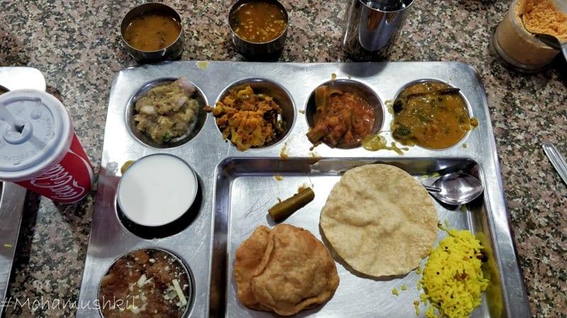 Thali at Andhra bhavan canteen