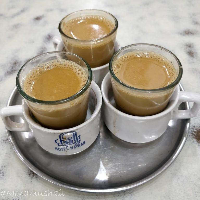 kesar tea at Nayaab restaurant