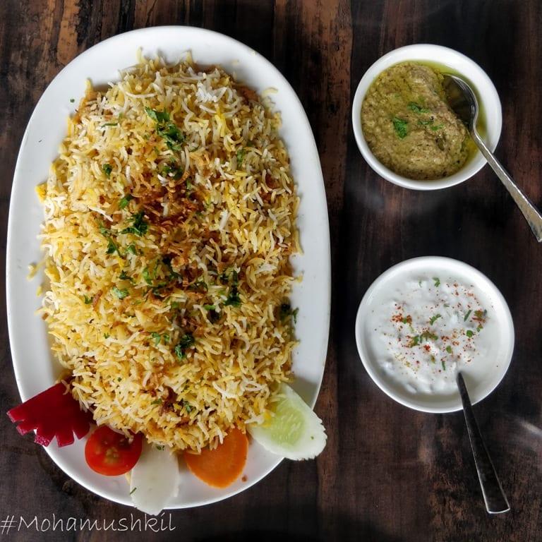 food at Zaika-e-hyderabad