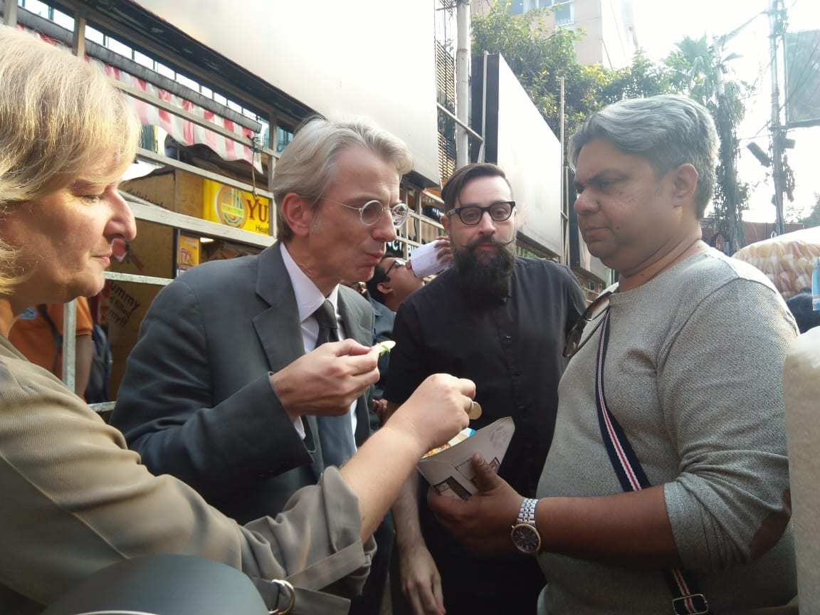 Veagnn food walk with French Ambassador to India