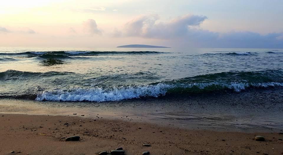 Margaree Island, floating on the horizon