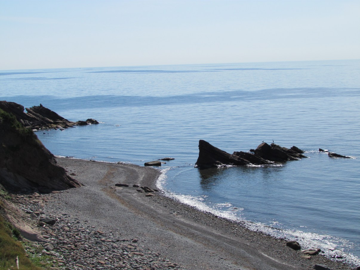 A beach along the Cabot Trail