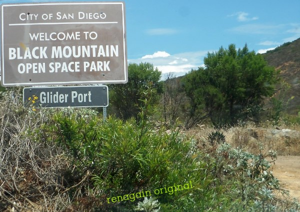 Sign: City of San Diego Welcome to Black Mountain Open Space Park - Glider Port