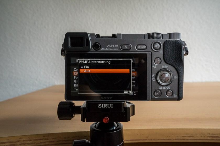 Manuelles Fokussieren Sony A6000 und A7 Reihe: MF-Unterstützung aktivieren