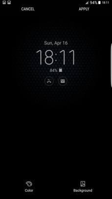 Galaxy S8 AlwaysOn Display