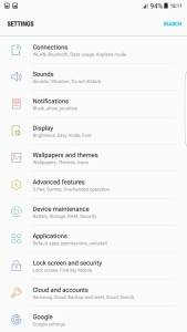 Galaxy S8 system settings