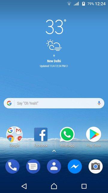 Samsung Galaxy S8 Weather Widget