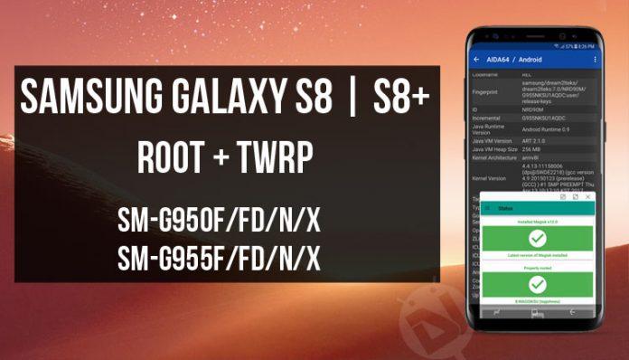[شرح] عمل روت Magisk وريكفري TWRP لجهاز Samsung Galaxy S8