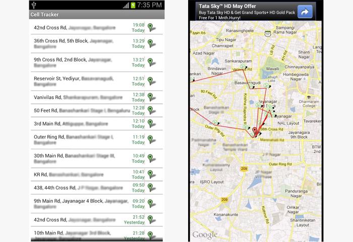تطبيق تجسس Cell Tracker