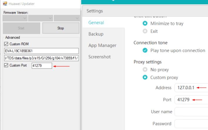 HiSuite Huawei Updater Settings Mohamedovic