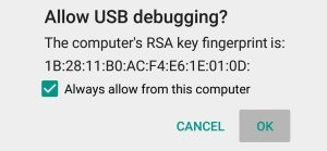 Allow USB Debugging connection Mohamedovic