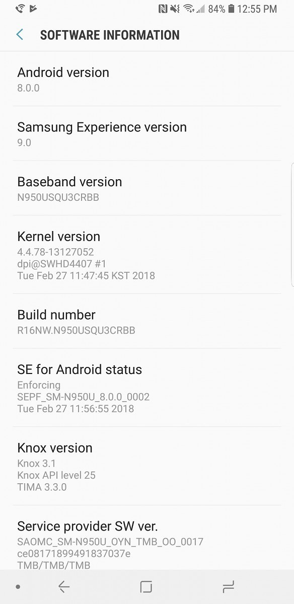 Android 8.0 Oreo Official update for Galaxy Note 8 Moihamedovic 01