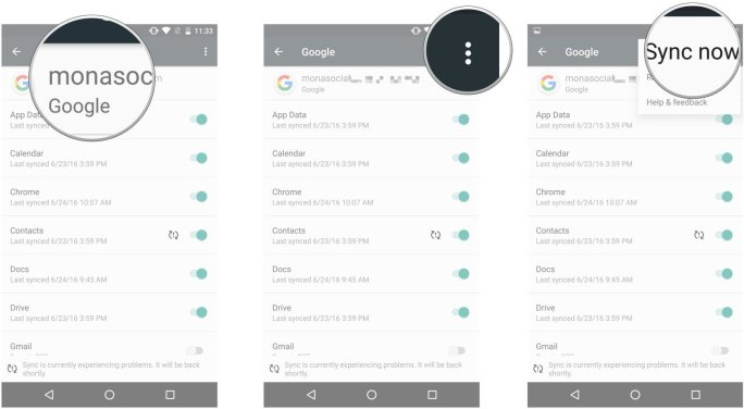 Contacts Sync with Google Account Mohamedovic