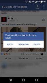تطبيق FB Video Downloader