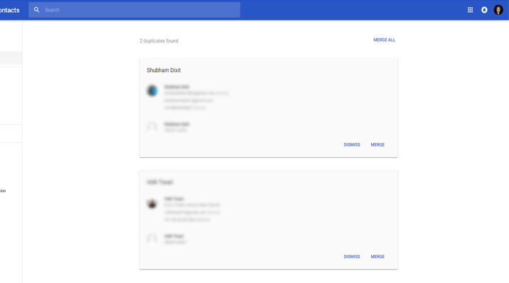 Merge Duplicate Contacts using Web Google contacts Mohamedovic 02