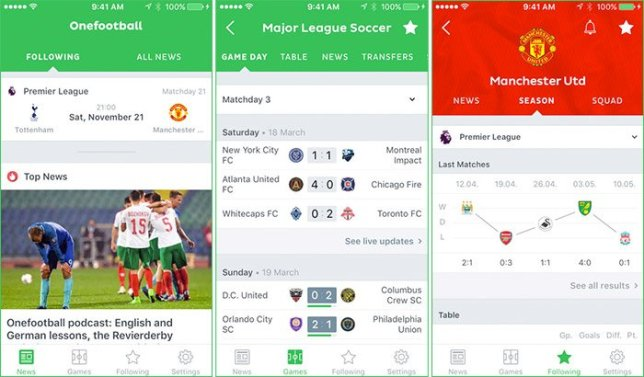 Onefootball Soccer News App for Word Cup 2018