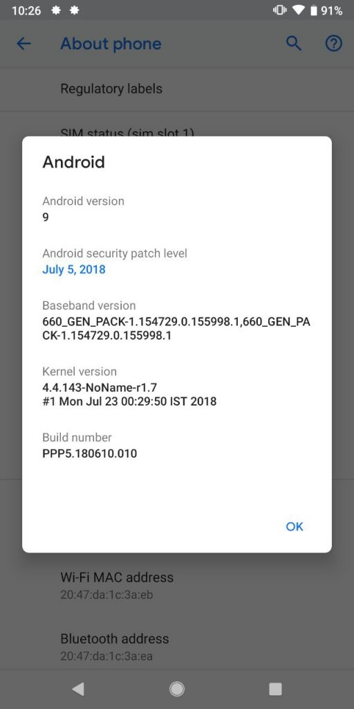 Android 9.0 P GSI ROM for Treble Supported Devices Mohamedovic 16