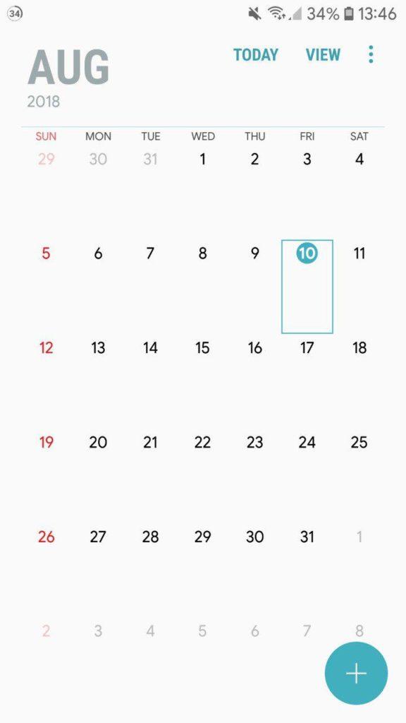 Samsung Galaxy Note 9 Calender App Mohamedovic 08