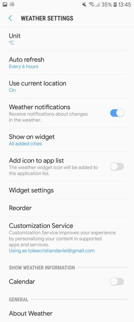 Samsung Galaxy Note 9 Stock Weather App Mohamedovic 03
