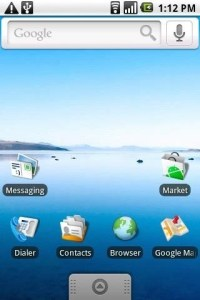 HTC Dream T Mobile G1 had an App drawer Mohamedovic 01