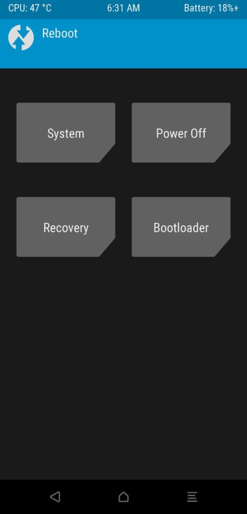 TWRP Custom Recovery for Poco F1 Mohamedovic 04