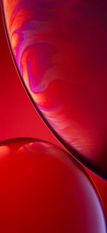 خلفية هاتف iPhone XR الحمراء