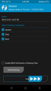 Restore NANDroid Backup via TWRP Recovery Mohamedovic 03