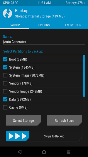 Save an NANDroid Backup via TWRP Recovery Mohamedovic 02
