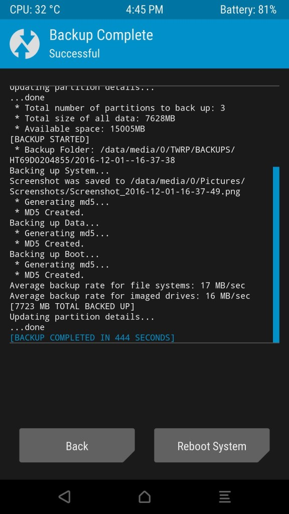 Save an NANDroid Backup via TWRP Recovery Mohamedovic 03