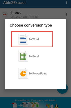Convert PDF to Word via Able2Extract 02
