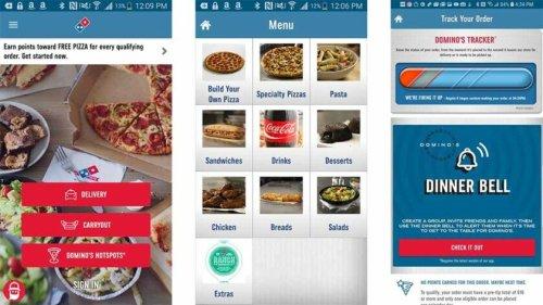 تطبيق دومينوز بيتزا للطعام في امريكا