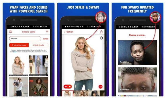 مايكروسوفت فيس سواب لتبديل الوشوش في الصور