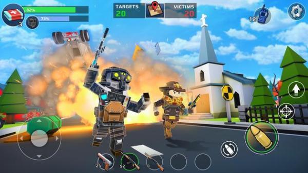 لعبة Pixel's Unknown Battle Ground apk 2019