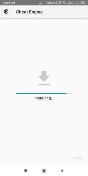 الخطوة الرابعة في خطوات تحميل تطبيق شيت انجين