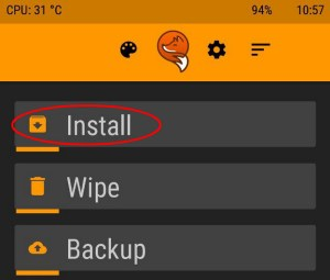 Choose Install Orange
