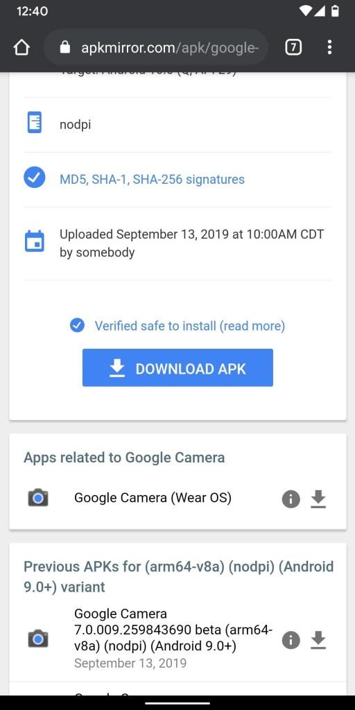 تحميل تطبيق Google Camera 7.0 (من هاتف Pixel 4) | لجميع هواتف بيكسل 9
