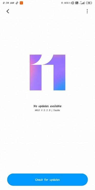 Redmi Note 5 Pro MIUI 11 Update 02